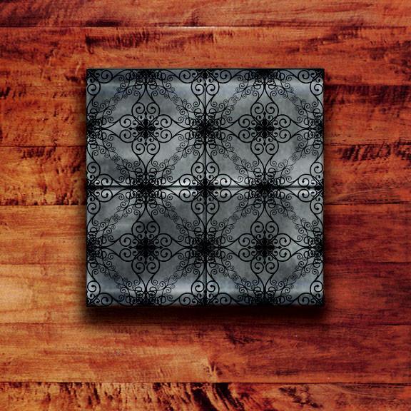 Glass Tile Backsplash Iron Contour Pattern modern-tile