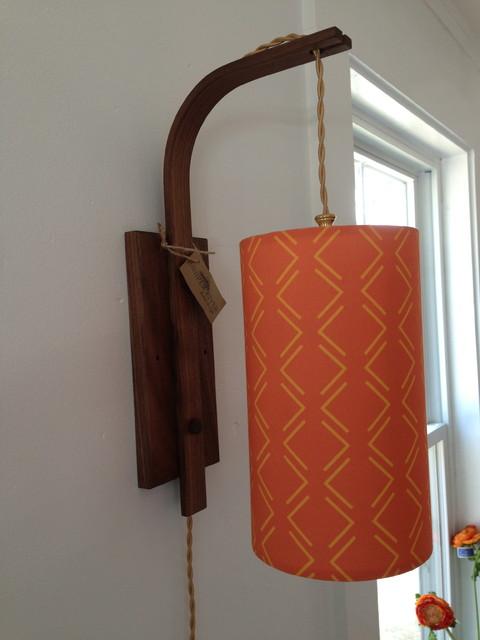 JRHD ORIGINAL WALNUT SCONCE & SHADE eclectic-lighting