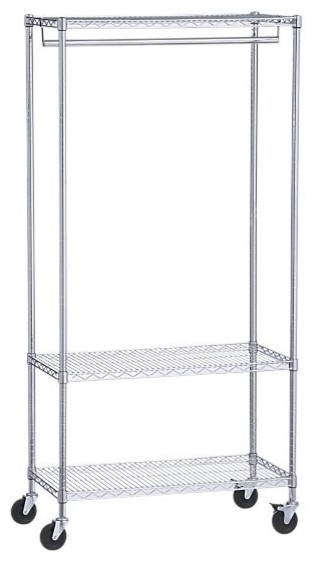 Work Mobile Three-Shelf Garment Rack modern clothes racks