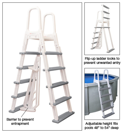 Blue Wave Hvy Duty A-Frame Ladder traditional-pool-chemicals-and-cleaning-tools