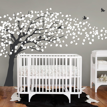 Cherry Blossom Tree - Elegant Style Wall Decal modern-nursery-decor