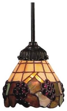 Landmark Lighting 078-TB-07 Mini Pendant - 23.5H in. Tiffany Bronze modern-pendant-lighting