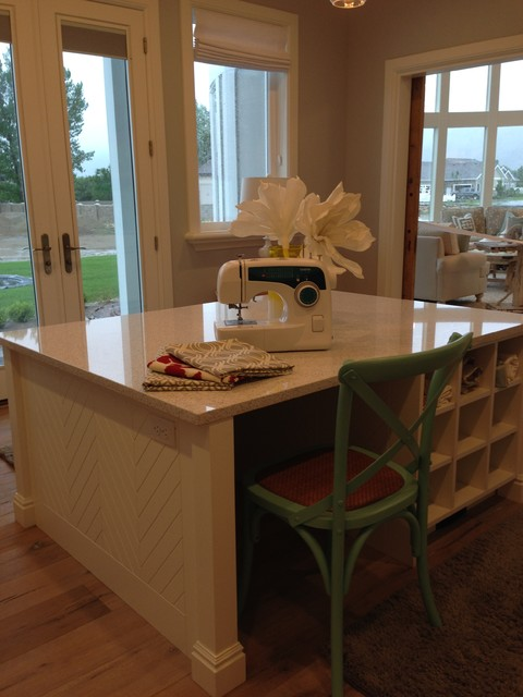 Utah Valley Parade Of Homes Craft Room Farmhouse Home Office Salt Lake City By Titan Homes