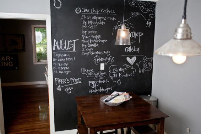 Blackboard In Kitchen