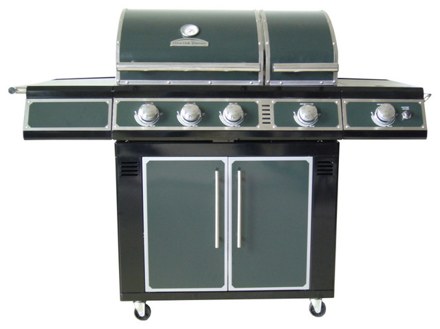 master forge green 3 burner liquid propane natural gas