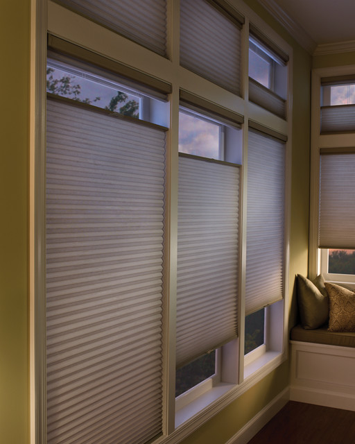 Cellular Shades With Top Down Bottom Up In Master Bedroom
