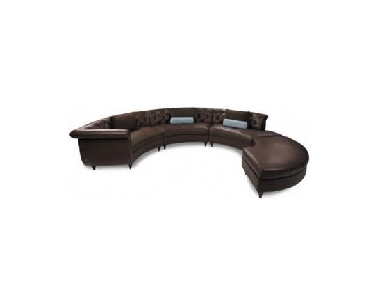 LOOSE FURNITURES - CUSTOMIZED LEATHER SOFA CURVED