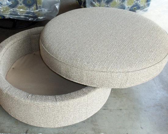 Customer Custom Orders - Rowe Eero Storage Ottoman at Barnett Furniture in Trussville / Birmingham, AL.  You Choose the Fabric