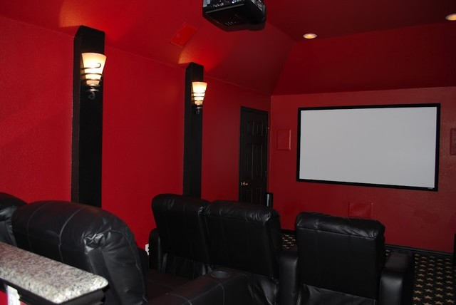 Media Room contemporary-home-theater