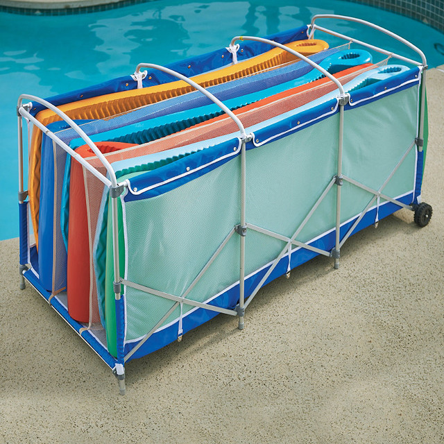 Collapsible Pool Float Storage With Cover Traditional