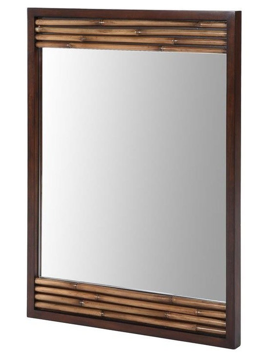 Xylem - Xylem Mirrors Bambu 36 in. x 26 in. Poplar Framed Wall Mirror in Dark Bamboo - Shop for Decor at The Home Depot. With dual cleats the Ryvyr Bambu 36 in. x 26 in. Poplar Dark Bamboo Framed Wall Mirror allows for either horizontal or vertical mounting. The frame's natural bamboo veneer and accents offer a decorative appearance. Color: Dark Bamboo.