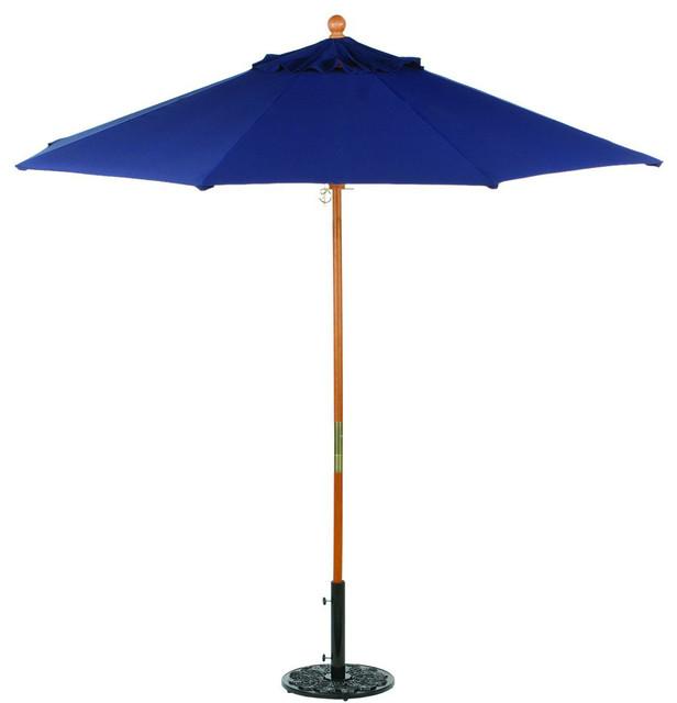 9 sunbrella market umbrella in navy modern outdoor