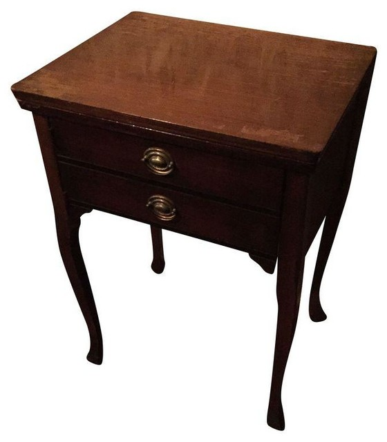 Used Convertible Sewing Machine Table - Transitional - Side Tables And End Tables - by Chairish