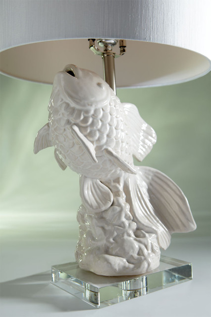 koi lamp eclectic-table-lamps