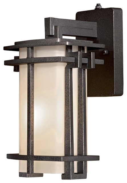 Arts and crafts mission lugarno square 13 3 4 outdoor for Modern craftsman lighting