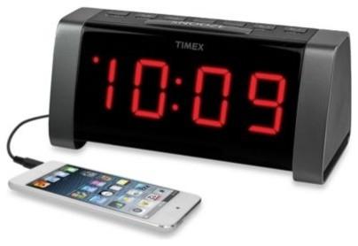 Timex Am Fm Jumbo Display Dual Alarm Clock Radio In Black