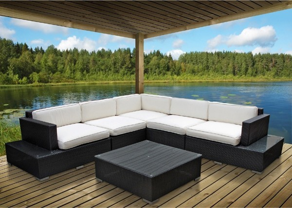 modway secret harbour 6 sectional seating