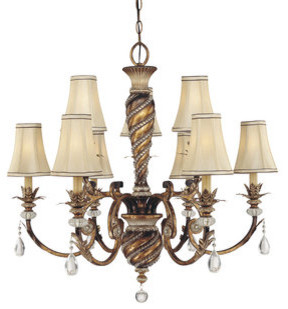 Crystal 9 Light Up Lighting Chandelier - Traditional - Chandeliers ...