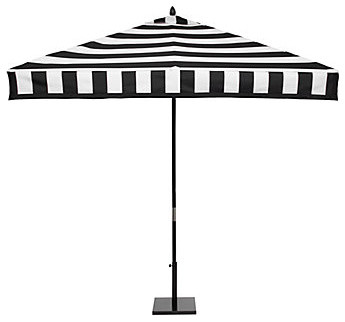 Portofino Umbrella, Black contemporary-outdoor-umbrellas