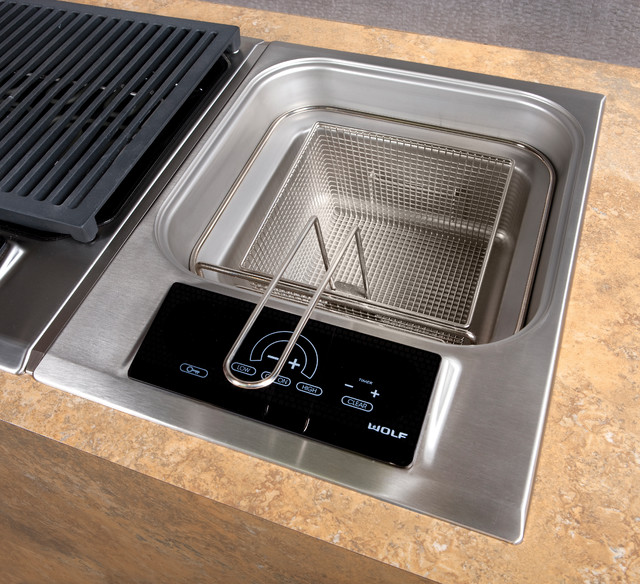 """Wolf 15"""" Electric Fryer Module, Stainless Steel 