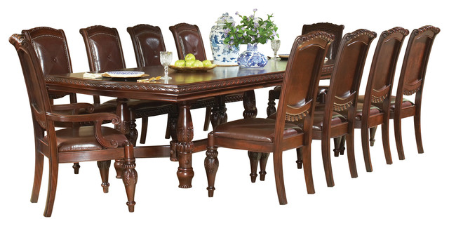Steve silver antoinette 11 piece dining room set with leaf for 11 piece dining table