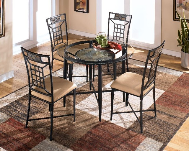Calder Metal Round Table Dining Tables Houston By Red Tag Mattress And