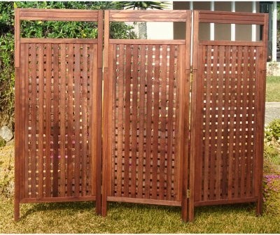 Best redwood lattice privacy screen modern home for Outdoor privacy screen on wheels