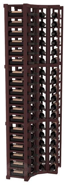 4 Column Standard Corner Kit in Redwood, Walnut Stain contemporary-wine-racks