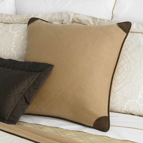 Decorative Pillow Trim : Leather-Trim Cashmere Pillow - Traditional - Decorative Pillows - by Ralph Lauren