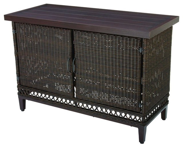 hampton bay tables woodbury patio buffet dy9127 buffet. Black Bedroom Furniture Sets. Home Design Ideas