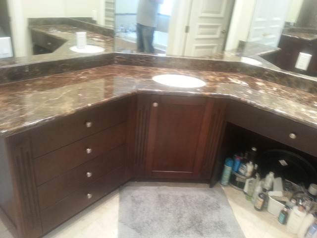 Granite,Marble, Quartz and Onyx /some jobs done by Us. modern-bathroom-vanities-and-sink-consoles