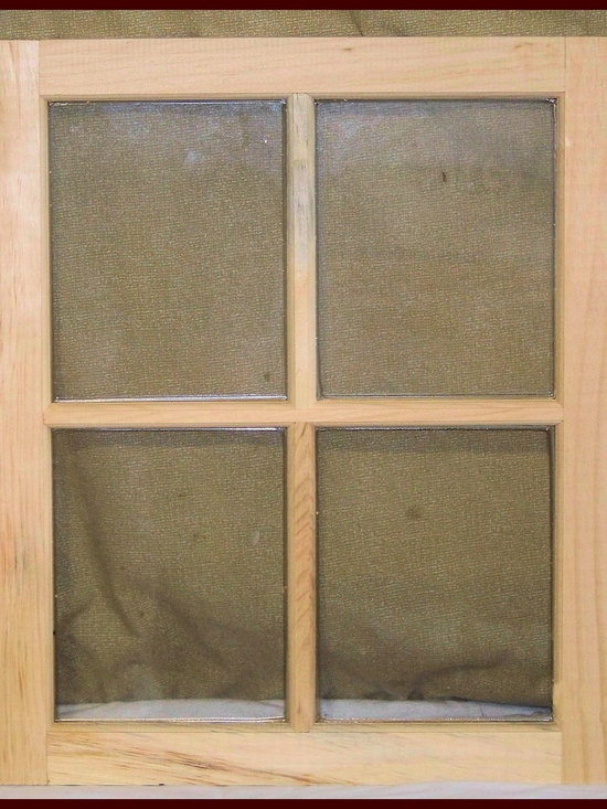 Strafford Window Manufacturing, Inc. - 4 Lite wood window sash for sheds, barns and stables -