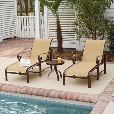 Woodard Belden Sling Chaise Lounge Set modern-outdoor-chaise-lounges