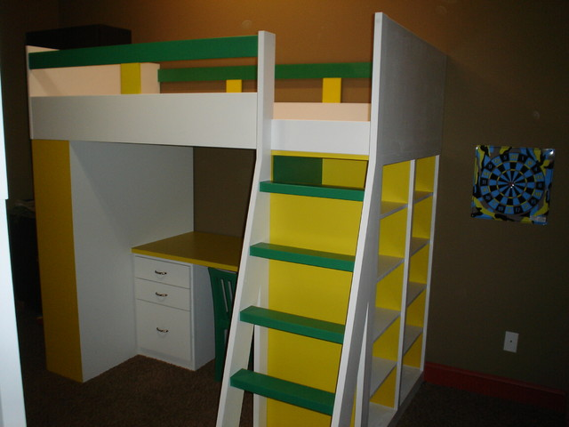NE Ohio Bunk Bed Desk Storage Units Modern Bunk Beds