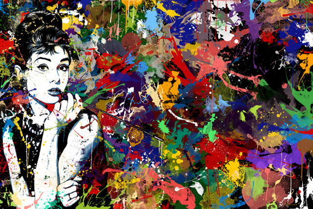 Maxwell dickson audrey hepburn pop art modern canvas for Posters art prints