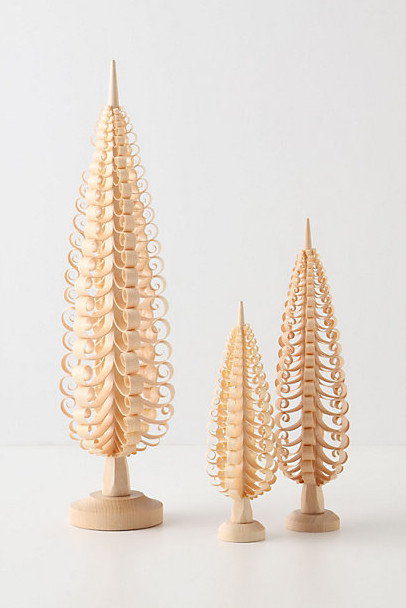 Looped Wood Trees modern holiday decorations