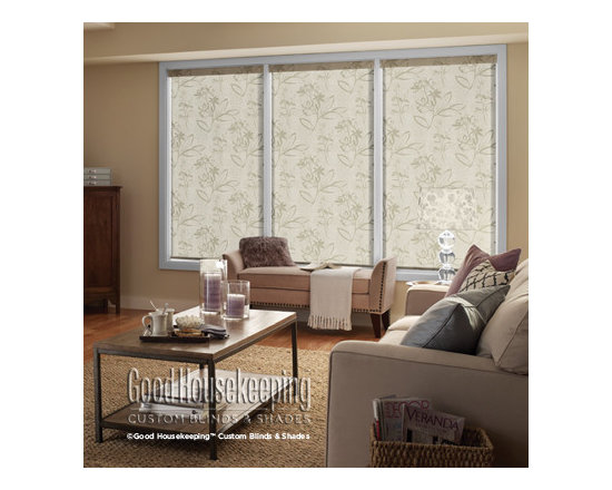 Good Housekeeping - Good Housekeeping Roller Shades: Exclusive Solids & Patterns Blackout - Why settle for uninspiring when you can get a custom sized roller shade from Good Housekeeping Blinds and Shades? This collection features colors and patterns only available through Good Housekeeping Blinds and Shades.  Backed by the Good Housekeeping Seal, these roller shades feature premium components, and cordless options for child safety.
