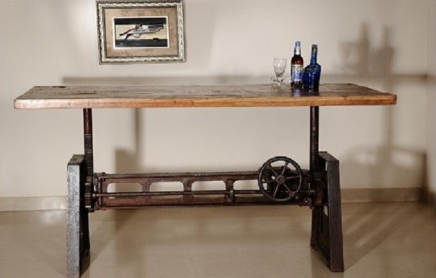 Cammy Reclaimed Wood Adjustable Dining Table - modern - dining