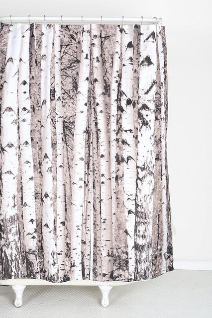 Birch Tree Shower Curtain Contemporary Shower Curtains