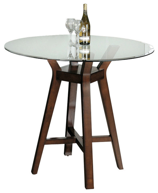 Jofran carlsbad ii glass top 42 inch round dining table for 42 inch round dining table