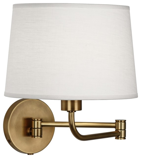 Wall Sconces Plug In : Contemporary Robert Abbey Koleman Brass Plug-In Swing Arm Wall Lamp - Traditional - Swing Arm ...