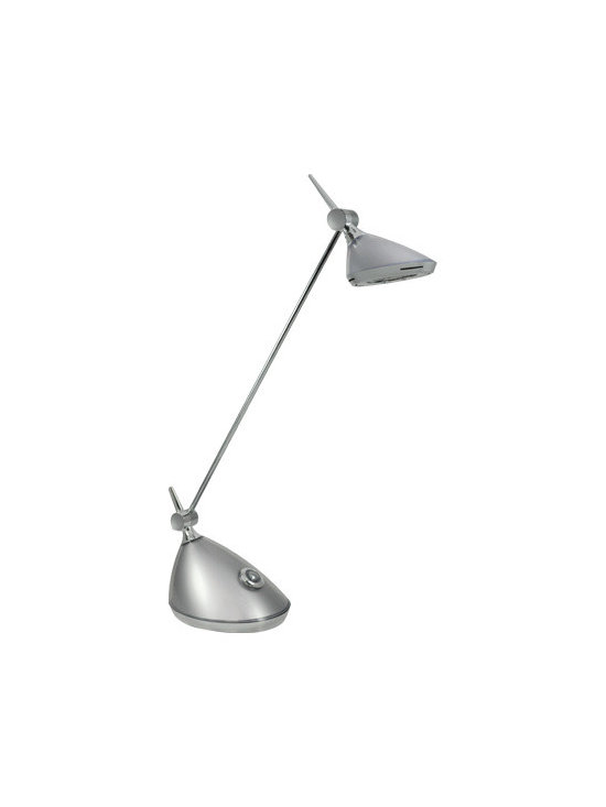 Bulbrite 40W Replacement (6W) Slyng LED Desk Lamp with Touch Dimmer - Bulbrite 40W Replacement (6W) Slyng LED Desk Lamp with Touch Dimmer (Warm, Dim, Silver) | http://www.agreensupply.com/bulbrite-40w-replacement-6w-slyng-led-desk-lamp-with-touch-dimmer-warm-dim-silver/