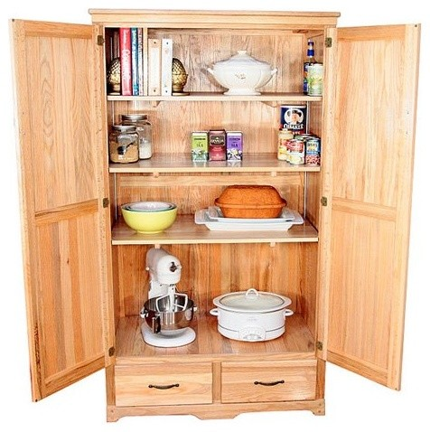 Oak Kitchen Pantry Cabinet - Traditional - Pantry Cabinets - by Hayneedle