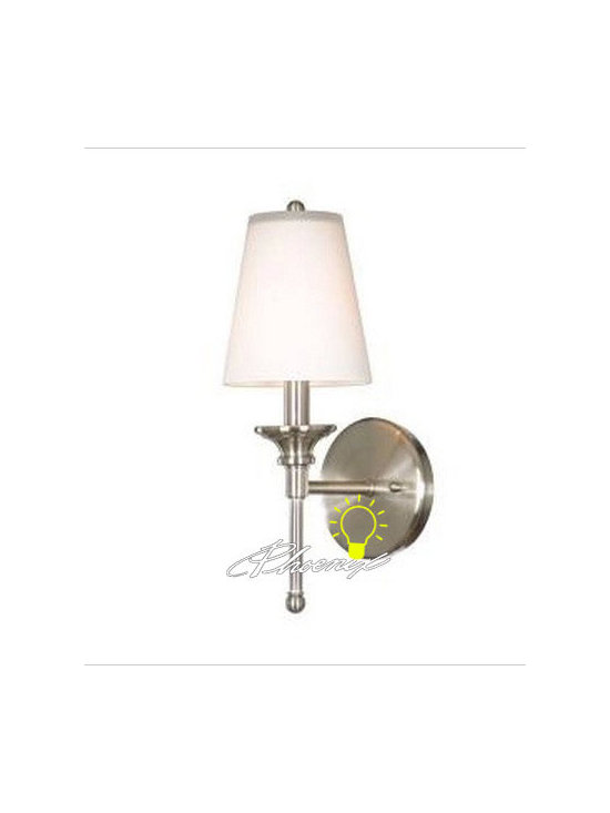 Modern Depolished Glass Shade Wall Sconce in Nickel Finish - Modern Depolished Glass Shade Wall Sconce in Nickel Finish