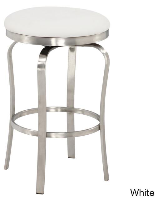 Modern Backless Upholstered Stainless Steel Counter Stool