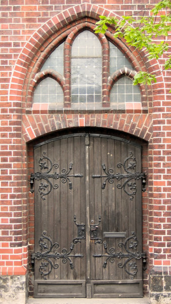 Rustic German Church Door Eclectic Front Doors