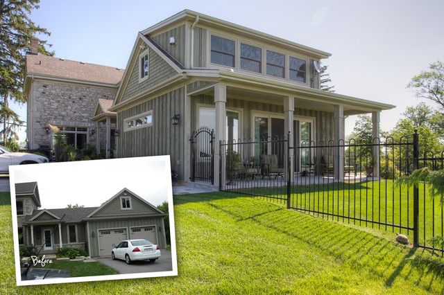 Renovations - before & after farmhouse-exterior