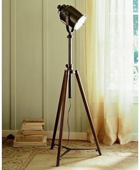 Cfl photographer39s tripod floor lamp bronze finish for Photographer s tripod floor lamp bronze finish