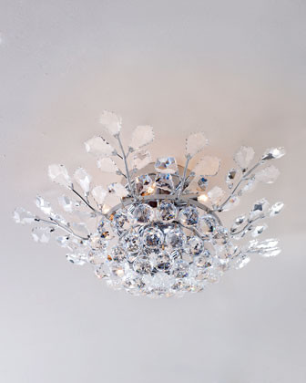 Crystal Tier Flushmount traditional bathroom lighting and vanity lighting