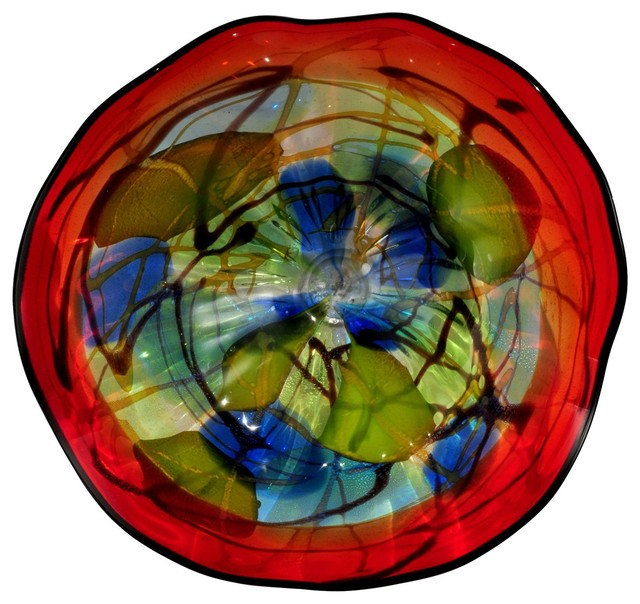 Wall Decor Glass Plates : Dale tiffany hankley modern contemporary art glass wall